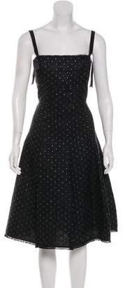 Lela Rose Sleeveless Midi Dress