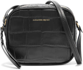 Alexander McQueen Croc-effect Leather Camera Bag