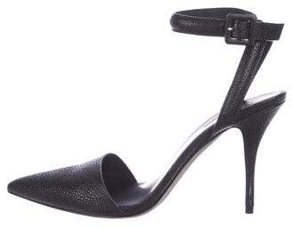Alexander Wang Embossed Ankle-Strap Pumps
