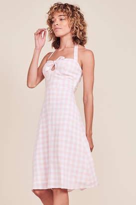 BB Dakota Gingham Halter Dress