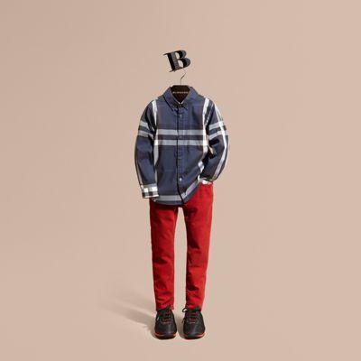 Burberry Check Cotton Button-down Shirt 2