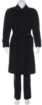 Alexander McQueen Woo & Cashmere Belted Overcoat