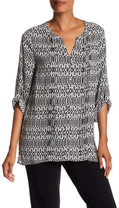 Chaus Printed Pintuck Blouse $69 thestylecure.com