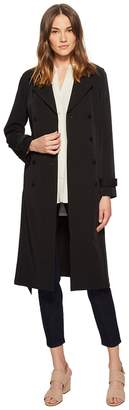 Eileen Fisher Recycled Polyester Water-Resistant Trench Coat Women's Coat