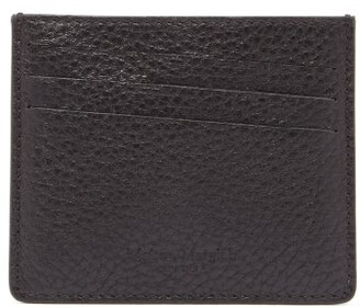 Maison Margiela Four Stitch Leather Cardholder - Mens - Black