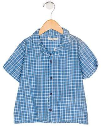 Caramel Baby & Child Boys' Plaid Button-Up Shirt w/ Tags