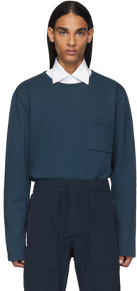 Bottega Veneta Blue Pocket Long Sleeve T-Shirt