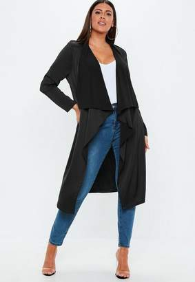 Missguided Plus Size Black Waterfall Jacket