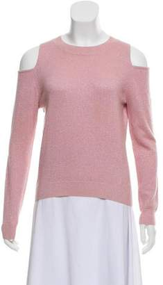 Allude Wool Cold-Shoulder Sweater