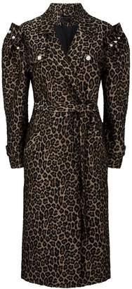 Mother of Pearl Felix Leopard Print Wrap Coat