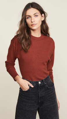 Jason Wu Grey Three Button Long Sleeve Knit Top