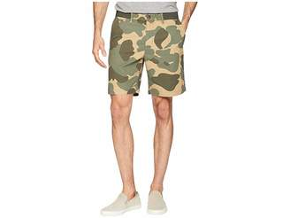 Original Penguin Elasticated Waistband Camo Print 8 Slim Fit w/ Stretch Shorts Men's Shorts