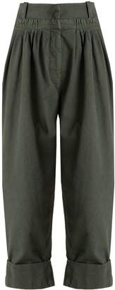 J.W.Anderson Tapered-leg pleated cotton trousers