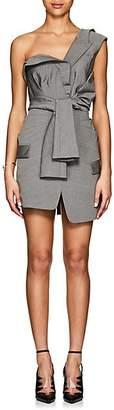Alexander Wang Women's Tie-Front Wool-Mohair Blazer Dress - Gray