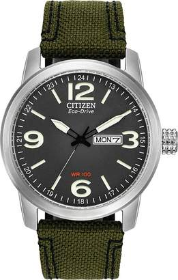 Citizen Men's BM8470-11E Sport Wrist Watch with Green Band and Dial