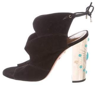 Aquazzura Embellished Suede Sandals