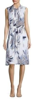 Peserico Floral Bib Front Dress