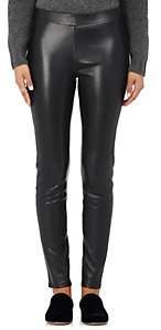 Barneys New York Women's Leather Leggings - Black