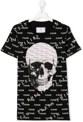 Philipp Plein Junior TEEN multi logo skull T-shirt