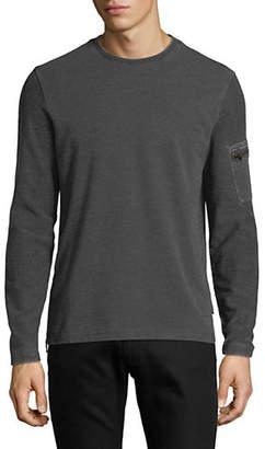 John Varvatos Burnout French Terry Long-Sleeve T-Shirt
