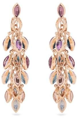 Marie Mas - Reversible Multi Stone & Pink Gold Earrings - Womens - Pink