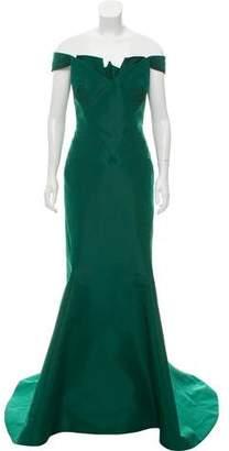 Zac Posen Silk Evening Gown