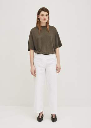 Aspesi Linen Wide Leg Trousers White