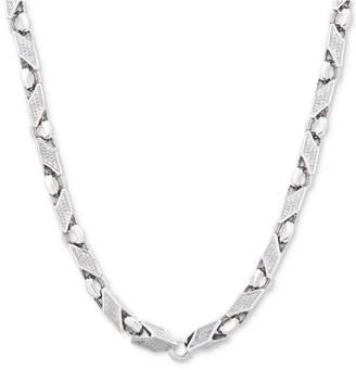 """Macy's Men's 24"""" Link Chain in Sterling Silver"""