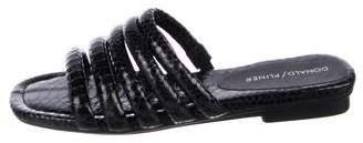 Donald J Pliner Embossed Slide Sandals