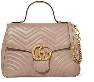 Gucci Gg Marmont Medium Quilted Leather Shoulder Bag - Beige