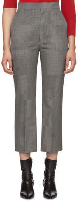 Beautiful People Grey and Black Check Cigarette Trousers