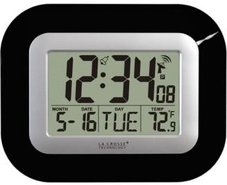 La Crosse Technology WT-8005U-B Digital Clock with Indoor Temperature, Black