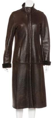 Burberry Shearling Long Coat