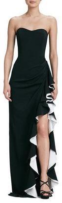 Diane von Furstenberg Strapless Colorblock Gown $670 thestylecure.com