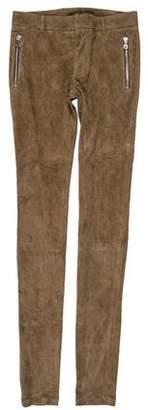 Balmain Suede Skinny Pants w/ Tags