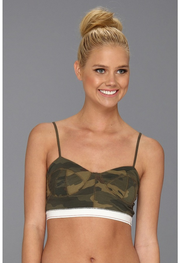Billabong Undercover Luvvah BraletteTop (Camouflage) - Apparel