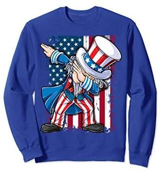 SAM. Dabbing Uncle Sweatshirt 4th of July American Flag Men