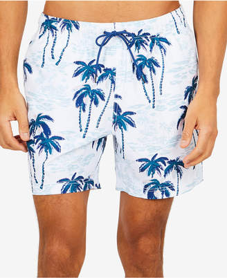 "Nautica Men's Palm Tree Printed 6"" Swim Trunks"
