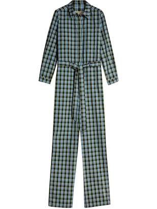Burberry Check Cotton Silk Jumpsuit
