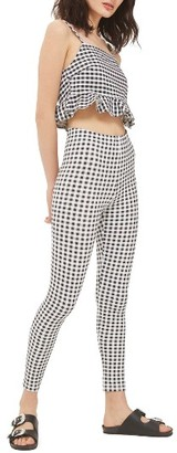 Women's Topshop Gingham Leggings $30 thestylecure.com