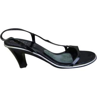 Michel Perry Black Leather Sandals