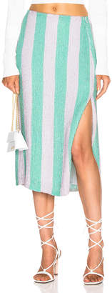 retrofete Veronica Skirt in Mint Stripes | FWRD