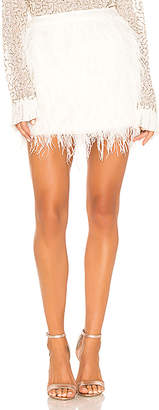 Aje Wattle Feather Mini Skirt