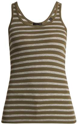 ATM Striped ribbed jersey tank top