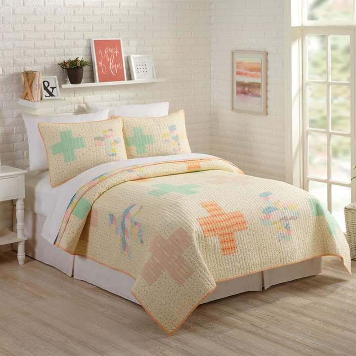 Buy Peking Handicraft, Inc. Bonnie Christine Hillside Springs 2pc Quilt Set - Full/Queen!