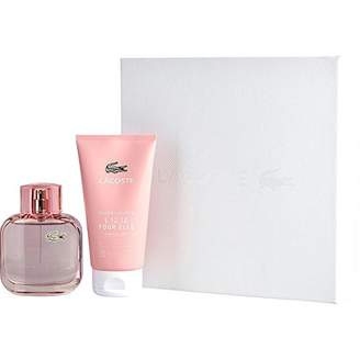 Lacoste Eau De L.12.12 Pour Elle Sparkling By Edt Spray 3 Oz & Shower Gel 5 Oz