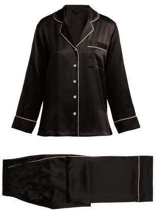 Fleur of England Signature Silk Pyjama Set - Womens - Black