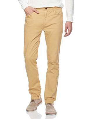 Trimthread Men's Classic Fit Stretch Waist Non-Iron Flat Front Casual Chino Pant (