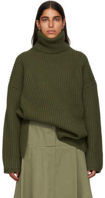 Acne Studios Green Ribbed Turtleneck