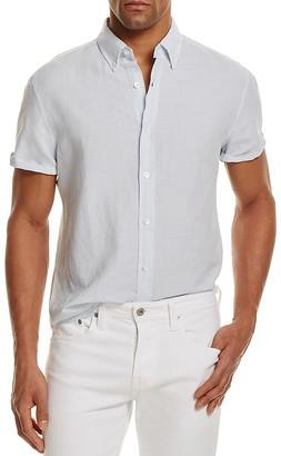 The Men's Store at Bloomingdale's Linen Cotton Regular Fit Button-Down Shirt - 100% Exclusive $88 thestylecure.com